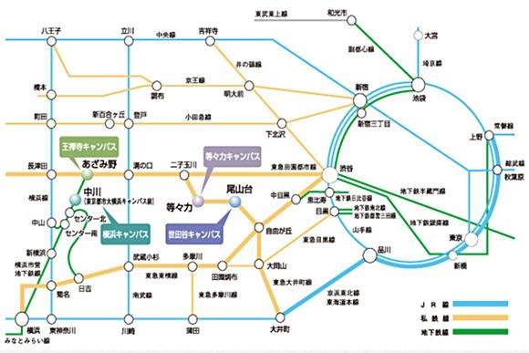 東京都市大学地図